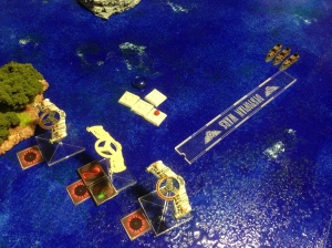 A group of Australian Escorts close on the Covenant bombers...