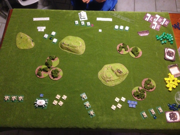 The Covenant line up... across the fields the armoured might of the Kingdom of Britannia roll into position...